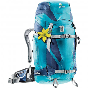 deuter rise pro 32+ sl pack- Save 14% Off - Features of the Deuter Rise Pro 32+ SL Pack Alpine Back system with Delrin U-frame Additional back panel opening for easy, quick access on the entire content Flexible, removable Vari Flex hip wings with material loop and zipped pocket Height adjustable lid with zipped compartment, internal valuables pocket and Snow skirt Stretch side pocket and zipped side pocket Spacious safety gear front pocket with shovel and probe compartment Detachable rope lashing strap Loops for helmet holder (accessory) Adjustable ice axe loops Pole attachment Reinforced SnowBoard / Snow shoe mounting Reinforced ski mounting on the sides, additional strap for diagonal or central ski attachment Emergency whistle on chest strap All straps and attachments stowable in 'garages' Removable sitting mat SOS label Fits torso length 14 - 19 in. Wet laundry compartment