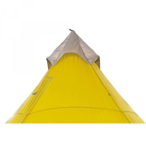 sierra designs mountain guide tarp tent- Save 25% Off - The Sierra Designs Mountain Guide Tarp Tent is a durable 4-season shelter built for wintry adventures and alpine basecamps. The five-sided shape with steep sidewalls is designed to handle High winds with ease and offers plenty of livable space for 4 adventurers. If it suits your fancy, you can dig the shelter deep into the Snow and extended the telescoping tent pole for maximum headroom. Snow flaps on the sides can be dug into the Snow to add stability and insulative value to your camp. Features of the Sierra Designs Mountain Guide Tarp Tent   Integrated stiffeners keep the roof vents open to manage condensation   This opening can be adjusted to provide airflow and double as a port access to the outside   Snow flaps can be used inside or out to lock out spindrift   Telescopic Center Pole can be extended to work with a Snow pit for winter use, or collapsed to work on flat ground during summer use   Either side of the door can be rolled back and toggled to provide the perfect amount of visibility and ventilation