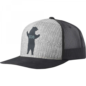 a7e05c3089407 Features of the prana Journeyman Trucker Cap Organic cotton blend trucker  with wilderness animal prints on front panel Five panels Mesh back for ...