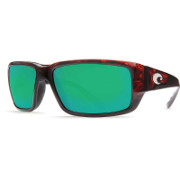 Costa Del Mar Men's Fantail Polarized Sunglasses - One Size - Tortoise/Green