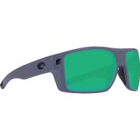 Costa Del Mar Men's Diego Sunglass - One Size - Matte Gray/Green Mirror 580P