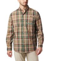 Columbia Men's Super Sharptail LS Shirt - XL - Backcountry Orange Tartan