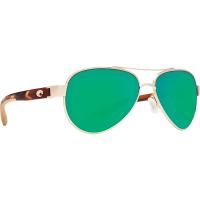 Costa Del Mar Loreto Polarized Sunglasses - One Size - Rose Gold/Tortoise/Green 580P