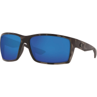 Costa Del Mar Men's Reefton Polarized Sunglasses - One Size - Ocearch Matte Tiger Shark / Blue Mirror 580G