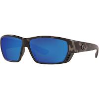 Costa Del Mar Men's Tuna Alley Polarized Sunglasses - One Size - Ocearch Matte Tiger Shark / Blue Mirror 580G