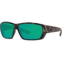 Costa Del Mar Men's Tuna Alley Polarized Sunglasses - One Size - Ocearch Matte Tiger Shark / Green Mirror 580G