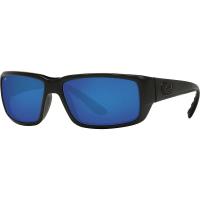 Costa Del Mar Men's Fantail Polarized Sunglasses - One Size - Blackout/Blue W580