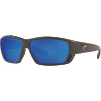 Costa Del Mar Men's Tuna Alley Polarized Sunglasses - One Size - Steel Gray Metallic/Blue 580G