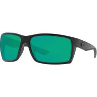 Costa Del Mar Men's Reefton Polarized Sunglasses - One Size - Blackout/Green 580P