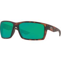 Costa Del Mar Men's Reefton Polarized Sunglasses - One Size - Retro Tortoise/Green 580P