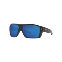 Costa Del Mar Men's Diego Sunglass - One Size - Matte Black/Blue Mirror 580G