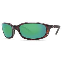 Costa Del Mar Men's Brine Polarized Sunglasses - One Size - Tortoise/Green Glass