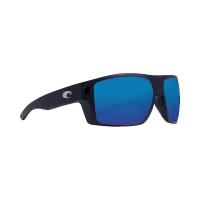 Costa Del Mar Men's Diego Sunglass - One Size - Matte Black/Blue Mirror 580P