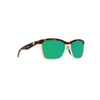 Costa Del Mar Anaa Polarized Sunglasses - One Size - Retro Tort/Green 580P