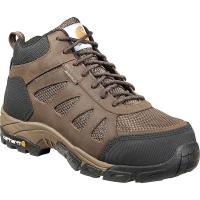 Carhartt Men's Comfort Hiker Lightweight Waterproof Work Boot - Soft T - 10 Wide - Dark Brown Leather / Nylon