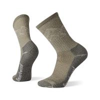 Smartwool Men's Classic Hike Light Cushion Mountain Pattern Crew Sock - Large - Fossil