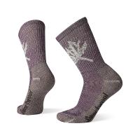 Smartwool Women's Classic Hike Light Cushion Leaf Pattern Crew Sock - Medium - Bordeaux