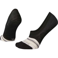 Smartwool Women's Sneaker Striped No Show Sock - Medium - Black