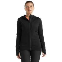 Icebreaker Women's Quantum III LS Zip Hoodie - Medium - Black