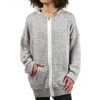 Free People Women's In Bloom Solid Hoodie - Medium - Grey