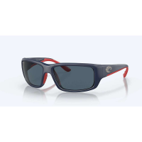 Costa Del Mar Men's Fantail Polarized Sunglasses - One Size - Blackout/Blue 580P