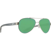 Costa Del Mar Loreto Polarized Sunglasses - One Size - Ocearch Brushed Silver w/Gray Crystal/Green 580P
