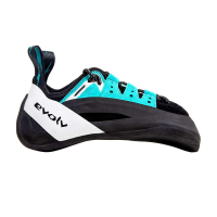Evolv Men's Geshido Lace Climbing Shoe - 10 - Black / Teal / White