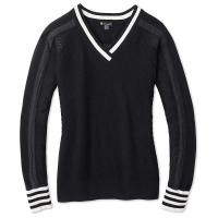 Smartwool Women's Frosted Valley V-Neck Sweater - Medium - Black