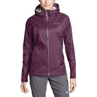 Eddie Bauer Women's Cloud Cap Rain Jacket - XL - Dark Plum