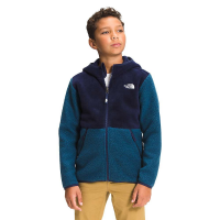 The North Face Boys' Forrest Full Zip Hooded Fleece Jacket - XL - Burnt Olive Green