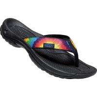 KEEN Women's Kona Flip Flop - 7.5 - Black / Thistle