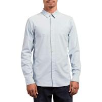 Volcom Men's Oxford Stretch LS Shirt - Small - Wrecked Indigo
