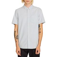 Volcom Men's Everett Oxford SS Shirt - Small - Wrecked Indigo