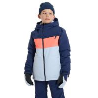 Burton Boys' Ropedrop Jacket - XL - True Black/Sharkskin/Sulphur Yellow