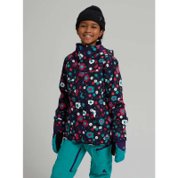 Burton Girls' Elodie Jacket - Large - True Black Morse Geo