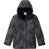 Columbia Girls' Bugaboo II Fleece Interchange Jacket - XL - Black Chevron Print