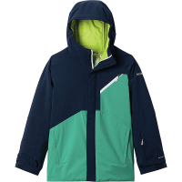 Columbia Boys' Winter District Jacket - Large - Collegiate Navy / Bright Emerald