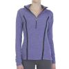 Beyond Yoga Women's Lattice Half Zip Pullover - Medium - Faded Denim / Lavender Mist