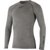 Alpine Stars Men's LS Winter Tech Top - XL / XXL - Melange Grey / Black