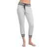 Beyond Yoga Women's Varsity Cropped Sweatpant - Medium - Light Heather Grey