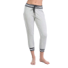 Beyond Yoga Women's Varsity Cropped Sweatpant - Large - Light Heather Grey