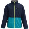 Burton Boys' Snooktwo Reversible Fleece Jacket - Large - Dress Blue / Sterling