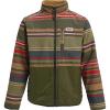Burton Boys' Snooktwo Reversible Fleece Jacket - Large - Gratz Stripe / Wood Thrush