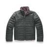 The North Face Girls' Reversible Mossbud Swirl Jacket - Medium - Asphalt Grey