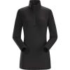 Arcteryx Women's Phase AR Zip Neck LS Top - Medium - Black