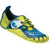 La Sportiva Kids' Gripit Climbing Shoe - 28 - Blue / Sulphur