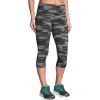 Brooks Women's Greenlight Capri - XS - Black Ikat Jacquard