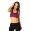 Beyond Yoga Women's Lightweight and See Spacedye Racer Bra - Large - Black / Plumberry