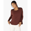 Beyond Yoga Women's Draw The Line Tie Back Pullover - Medium - Red Rock