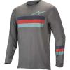 Alpine Stars Men's Alps 6.0 LS Jersey - Medium - Melange Mid Gray / Red / Stillwater